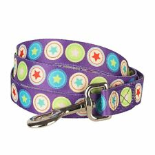 Blueberry Pet The Bold Round Star Dark Orchid Designer Durable Dog Leash Lead