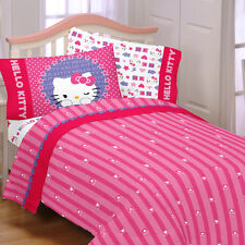 Hello Kitty &Me Microfiber Bedding Set 2 Sheets 2 Pillow Cases Twin / Full Size