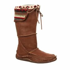 Durango Women's Southwest Santa Fe Tall Leather Festival Moccasin M6-10 (#RD065)