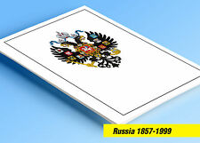 COLOR PRINTED RUSSIA 1857-1999 STAMP ALBUM PAGES (840 illustrated pages)