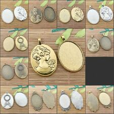 3colors to choose big oval shaped cabochon settings (cab:30x40mm)Jewerly Making