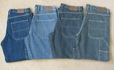 NEW Men's FALLS CREEK Relaxed Fit CARPENTER Work Utility Jeans Denim Straight