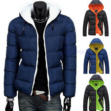 Men Winter Casual Slim Jacket Cotton Thick Coat Hooded Parka Warm Outwear Down
