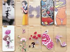 Stylish Relief Painting Plastic Hard Case Cover Skin for Apple iPhone 6 NEW