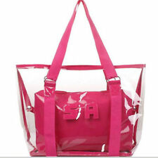New Womens Lady Girl Sweet Jelly Clear Transparent Handbag Tote Shoulder Bags
