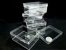 Clear Transparent Plastic Boxes Jewelry Beads Storage Container BPA Free 4,12,72