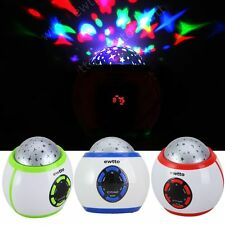 LED Lighten Portable Starry Night Sky MP3 Speaker With FM Radio Function TF/USB