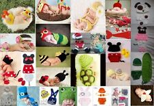 Newborn Baby Girl Boy Knit Costume Photo Crochet Photography Prop Hats Outfits