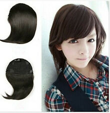 Beautiful Girl Clip on Straight Front Neat Bang Radian Fringe Hair Extension