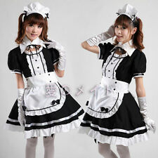 Japan Cosplay Sexy black Beer Lolita Maid Outfit Costume X-large dress Set apron