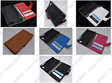 Multi Color Leather Cover Flip Case HOLDER WALLET For Sony Xperia T2 Ultra