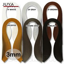 JUYA 3mm Width Single Color Quilling Paper ,390mm Length,100 strips,6 Colors