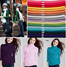 Women Cashmere Basic Turtleneck Long Sleeve Casual Pullover Sweater Outwear Top