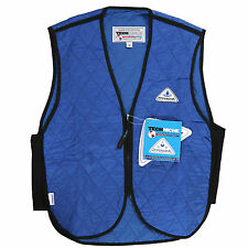 Blue Cooling Vest Motorcycle Sport Construction Work Safety Outerwear Adult