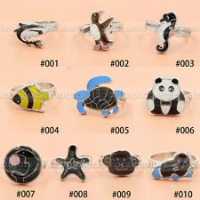 Animals Adjustable Ring  Color Changing Emotion Feeling Ring Panda Fish Shark