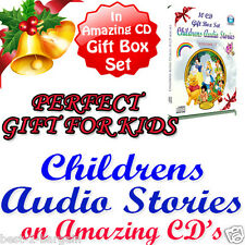 100 Childrens Stories PERSONALISED GIFT SET BOX Audio Story 10 CD Fairy for Kids