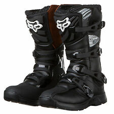 NEW Fox Racing Youth COMP 3 Boots MX SX ATV Off Road Black kids youth Dirtbike