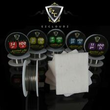 Kanthal Wire 24 26 28 30 32 Gauge +100% Japanese Organic Unbleached Cotton Pads