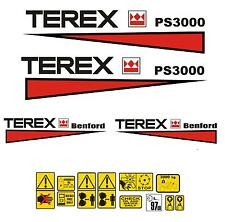 Decal Sticker Graphics set for: TEREX PS3000 Dumper Mini Bagger Autocollant