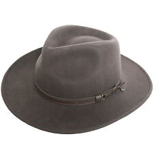 Quality Mens Waterproof Brown Wool Felt Fedora Hat Trilby Stetson Cowboy Winter