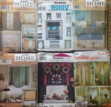 Simplicity Window Treatment Sewing Patterns Many Style Options to Choose From