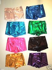 NWT Bal Togs Low Rise Dance Shorts Metallic Ballet Yoga Curved V Waist 86204