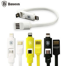 Baseus New Dual-port Lightning & Micro USB 2in1 Data Sync Micro Charging Cable