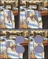 Patchwork Quilt Wall Decor Light Switch Plate Cover