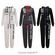 Womens New Ladies Hooded Celeb Jogging Suit I Am Peace Printed Tracksuit S-Xl