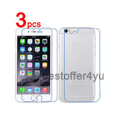 6=3Front+3Back Clear Screen Protector Film Skin Cover for iPhone 6 iPhone 6 Plus