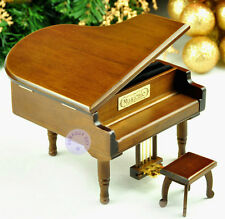 Wooden Piano Music boxes from Sankyo Musical Movement with More than 20 Melodies