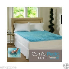 All Sizes 2 3 4 Inch Gel Memory Foam Bed Mattress Topper Cushion Pad Mat Cover