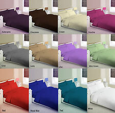 Plain Dyed Duvet set ,Fitted sheet,SHEET SET FITTED FLAT,16 Color all size