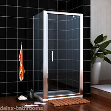Pivot Shower Door Enclosure and Tray Walk In Cubicle Glass Screen Side Panel