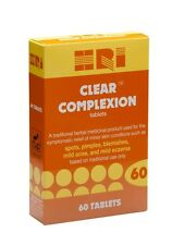 HRI Clear Complexion Vegetarian Tablets. (For Acne, Spots, Eczema, Skin)