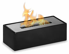 Ignis Fireplace Mia Black - Ceramic Tabletop Ventless Ethanol Fireplace