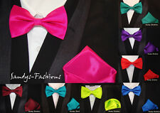 TOP Young Men's Bow tie + Handkerchief Set Wedding in 30 Colors - NEW COLLECTION