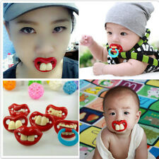Cute Baby Funny Dummy Prank Pacifier Novelty Teeth Children Child Soother Nipple