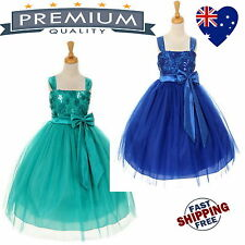 Tulle Sequin Girls Dress, Flower Girl Dress Jr Bridesmaid Dress Jade, Royal Blue