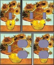 Van Gogh Sunflowers Wall Decor Light Switch Plate Cover
