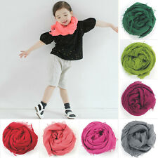 New Lot 1 3 Pcs Long Plain Solid Color Paternity Baby Scarf Tassel Shawl Wrap