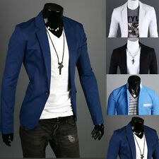 Fashion Men's Slim Fit One Button Suits Blazer Vogue Casual Coats Jackets Tops