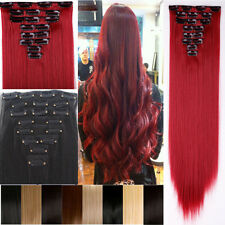 100% Mega Thick 170g Full Head Clip In Hair Extension 17/23/24/26 inch Hallowmas