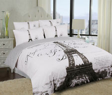 Single/Double/Queen/King Eiffel Tower Paris Quilt/Doona Cover Set-Parisienne