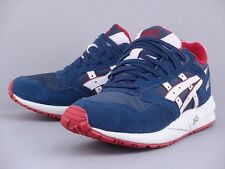 ASICS GEL SAGA NAVY BLUE SOFT GREY RED WHITE H4A4N-5010 LYTE III FIEG