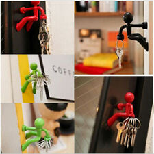4 colors Fashion New Strong Magnetic Key Holder Creative Fridge Magnet Hook Rack