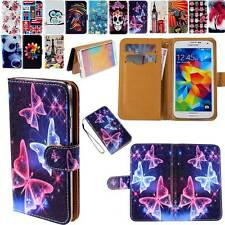 Folio Flip Leather Stand Card Wallet Magnetic Cover Case Fit Samsung Phones