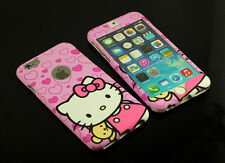 Pink Hello kitty Front + Back case cover Defender for Apple iPhone 5 5S 6 & Plus