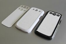 Lot of 100 Black White Sublimation Cases + Inserts for Samsung Galaxy S3 S4 S5
