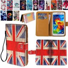 New Folio Flip Leather Stand Card Wallet Cover Case For Samsung Phones+handstrap